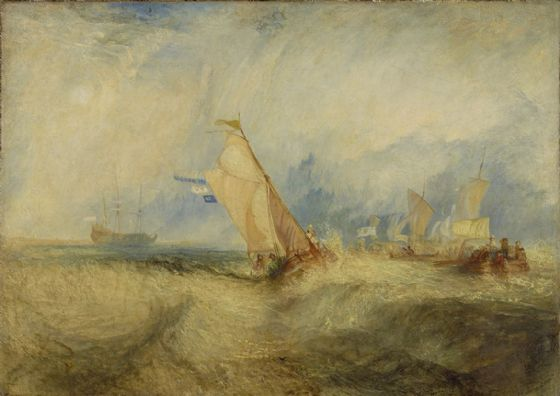 Turner, J.M.W: Van Tromp, Going About to Please his Masters, Ships a Sea, Getting a Good Wetting. Fine Art Print/Poster. Sizes: A1/A2/A3/A4 (004153)